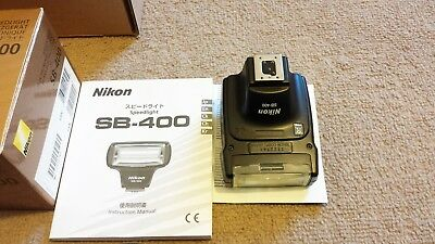 Nikon SB-400 Speedlight Shoe Mount Flash with Soft Case in excellent condition