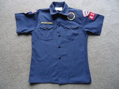 Bsa Boy Scouts Of America Navy Cub Scout Shirt-Youth Medium