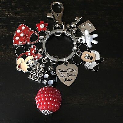 Disney Disneyland Mickey Minnie Mouse Clip For Keychain Purse Backpack Lanyard