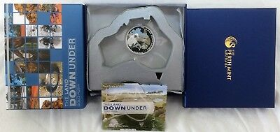 2014 THE LAND DOWN UNDER GOLD RUSH SILVER PROOF COLOR $1 COIN w/OGP & COA
