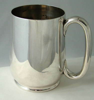 ANTIQUE VICTORIAN Solid Sterling Silver ONE PINT TANKARD ~ Sheffield 1879