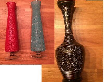 Vase, Glas, deutsch, Blumenvase, Indien, Bronze, Messing