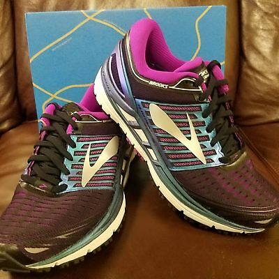 6c6e7aaf8d9 BRAND NEW IN BOX! Brooks Transcend 5 WOMENS RUNNING SHOES BLACK PURPLE  MULTI 023