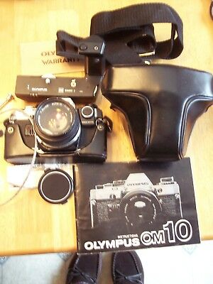 Olympus Om10 35 Mm Slr Camera , Manual, Winder 2, Filters, Filters, Not Tested