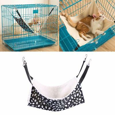 New Black&White Dots S/M/L Pets Cat Hammock Hanging Cage Double Side Warm Soft R