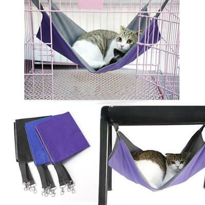 Cat Hammock Bed Hanging Soft Pet Bed Use with Crate, Cage or Chair For Kitten  y