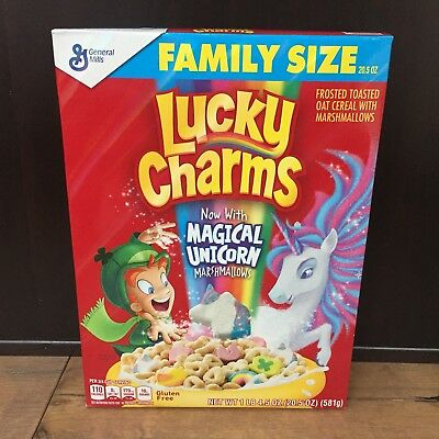 Lucky Charms Magical Unicorn Marshmallow Cereal New Family Size 20.5 oz