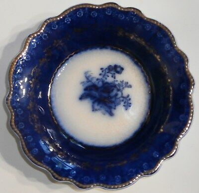 W.H. Grindley Antique Flow Blue Serving Bowls Set of 5. England 1891-1914 Gold