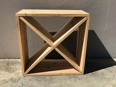24 Bottle solid timber cube Wine Rack. Great gift for wine lover- storage rack