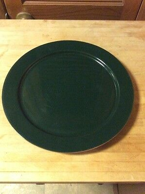 Frankoma Pottery Ranch Cattle Brands Western Longhorn Green Serving Platter Tray