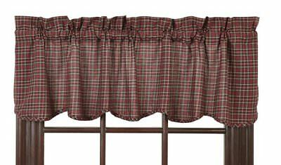 Country Primitive Rustic Scalloped Unlined Valance 16X60 ~ Bradford Star