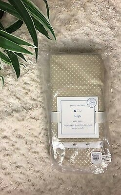 Pottery Barn Leigh Crib Skirt 100% ORGANIC NEW IN PACKAGE PBK
