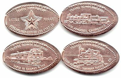 *Copper* Los Angeles - Travel Town Museum (4) made w/unc pre82 copper cents
