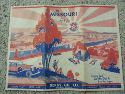 1931 Derby Oil Company /  gasoline road map