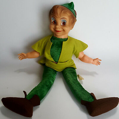 Peter Pan 1953 plush body with vinyl face  felt jacket, shoes and gold belt