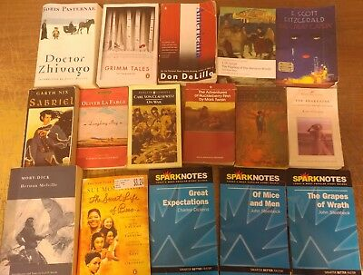 Lot of 100 Classic Literature Book Penguin Orwell Dickens Steinbeck Mix UNSORTED