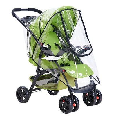 New Clear Baby Pushchair Pram Stroller Buggy Wind Shield Raincover Rain Cover BO