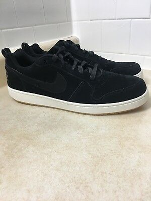 competitive price 1dd2a 97a64 Nike Court Borough Low Recreation Mens Basketball Shoes Black 844881-004  Size 14