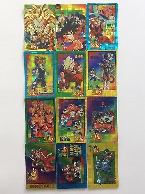 Dragon Ball GT Prism Gotenks Goku Sticker Card Set of 49 - Anime Animation Lot