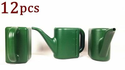 12x 2L Small Watering Can Watering Flowers Plant Garden Tools Plastic Green 3791