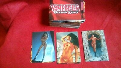 Vampirella Blood Lust Complete 72 Trading Card set, preowned, Harris comics