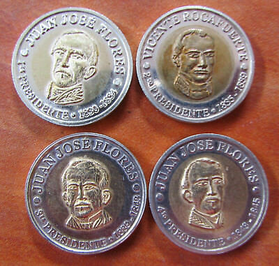 COMPLETE SET 16 COINS OF ECUADOR PRESIDENTS (1st to 16th) UNCIRCULATE