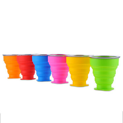 Outdoor Travel Camping Silicone Retractable Folding Telescopic Collapsible Cup