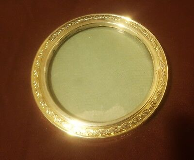 """Vintage Web Ornate Sterling Silver Round Picture Photo Frame 3 1/2"""""""