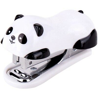Cute Panda Office Student Small Mini School Home Stapler Staples Set Plastic