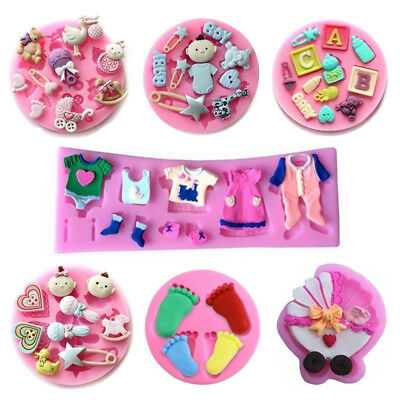 Baby Shower Silicone Fondant Mold Cake Decor Chocolate Sugarcraft Baking Mould