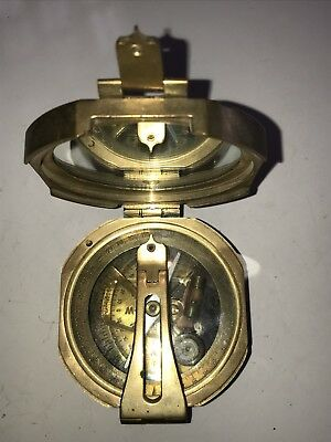 Vintage Antique Maritime Nautical Brass Sundial Compass 100 Years Old