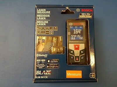 Bosch GLM 50 CX 165 ft. Laser Measure with Bluetooth and Full-Color Display