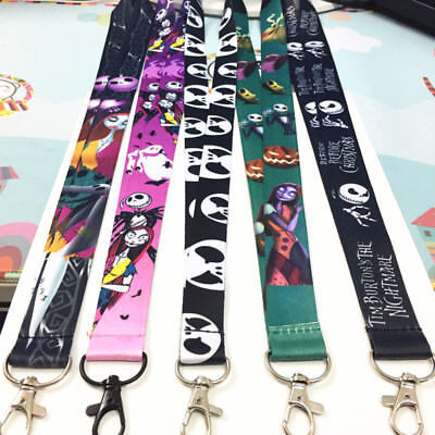 Lot of 5 The Nightmare Before Christmas Key Lanyard ID Badge Holders Neck Straps
