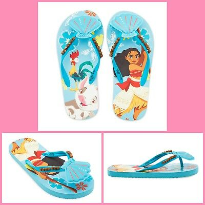 Disney Store 100% Authentic Moana Flip Flops For Girl (7-8 )(9-10)-(11-12)(13-1)