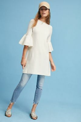 dc2abc0a7928 NWT Anthropologie Ruffle-Sleeve Mock Neck Tunic by Knitted & Knotted sz XL  white