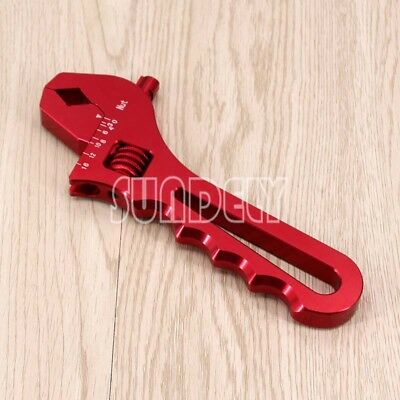 3AN-16AN Adjustable Aluminum Wrench Fitting Tools Spanner Red