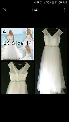 White Wedding Or Deb Dress Size 12/14 new Princess Style Handmade