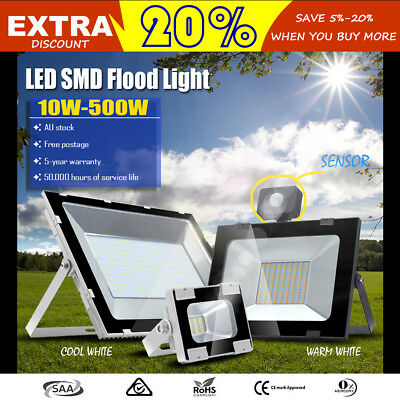10W 20W 30W 50W 100W 150W 200W 300W 500W LED Flood light Sensor & Lighting 240V