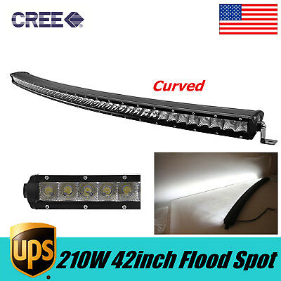 Curved SLIM 42inch 210W CREE Single Row Led Light Bar Offroad Truck Lamp /240/50
