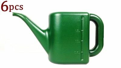 6x 2L Small Watering Can Watering Flowers Plant Garden Tools Plastic Green #3791