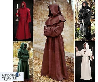 Historic Monks Robe & Hood. Perfect for Stage & Re-enactment Costume LARP