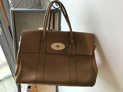 ab0a9c05ecd4 MULBERRY HERITAGE BAYSWATER in Oak Natural Leather Handbag - £149.00 ...