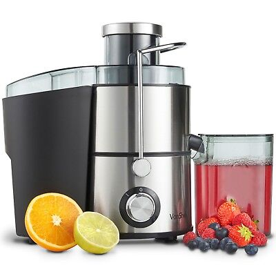 VonShef Electric Juicer Machine Whole Fruit & Vegetable Extractor 400W