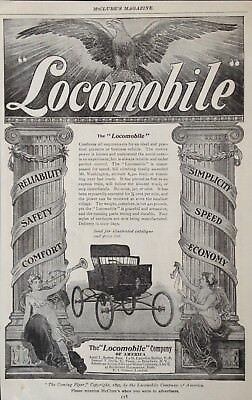 "1899 Ad(1800-27)~The ""locomobile"" Co. Of America. Self Powered Carriage"