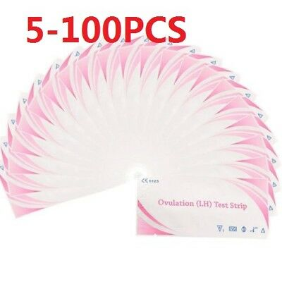 5/50/100PCS OVULATION Test STRIPS 20mIU Home Fertility Test Kit Wholesale