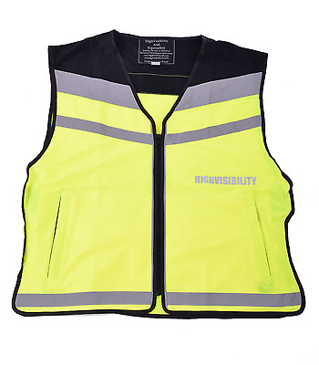 Equisafety HiViz Air Waistcoat Cycle Horse Riding Reflective Safety Yellow XL