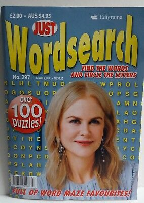 Wordsearch Just Wordsearch Puzzle Book Issue No. 297 P&p Incl. New