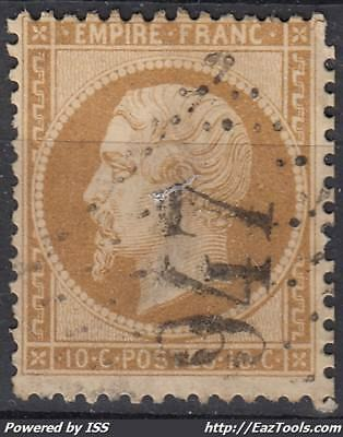 France Empire N° 21 Avec Obliteration Gc 947 Chateauroux Indre