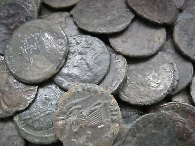 Uncleaned, unassorted roman bronze AE coins - 20 coins for 25 USD!