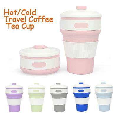6 Colors 350ML Collapsible Coffee Cup Silicone MugFor Hiking Reusable Portable